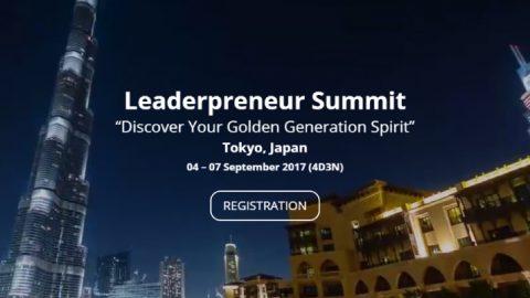 Leaderpreneur Summit 2017 in Tokyo, Japan