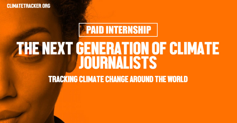 paid internship opportunity at climate tracker youth opportunities