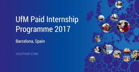 UfM Internship Programme 2017 in Barcelona, Spain