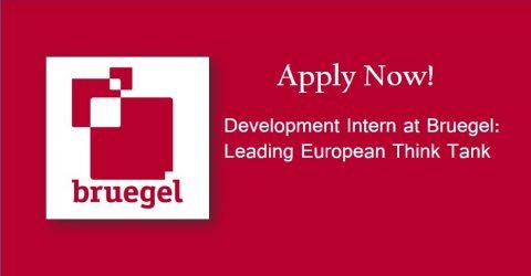 Call for Development Intern at Bruegel- Leading  European Think Tank