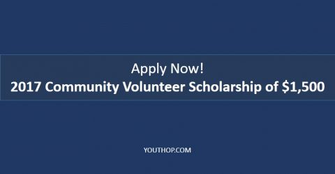Annual Community Volunteer Scholarship Worth of $1,500!