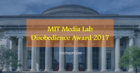 MIT Media Lab Disobedience Award- Win $250,000 cash prize!