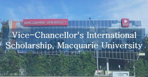 2017 Vice-Chancellor's International Scholarship at Macquarie University