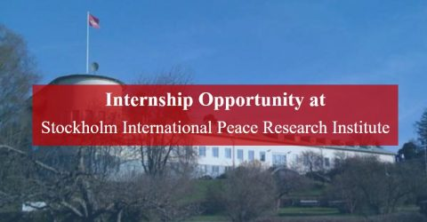 Internship Opportunity at Stockholm International Peace Research Institute (SIPRI)