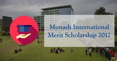 Monash International Merit Scholarship 2017