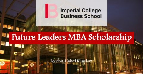 Future Leaders MBA Scholarship at Imperial College Business School, 2017