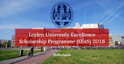 Leiden University Excellence Scholarship Programme (LExS) 2018 in Netherlands