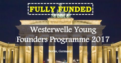 Westerwelle Young Founders Programme 2017- Fully Funded