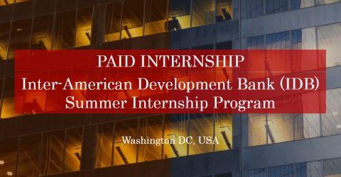 2017 Inter-American Development Bank (IDB) Summer Internship Program