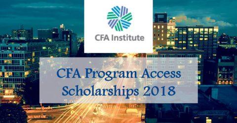 CFA Program Access Scholarships 2018