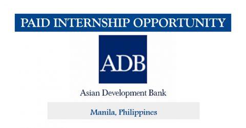 Internship Opportunity at the Office of the Secretary, Asian Development Bank (ADB)