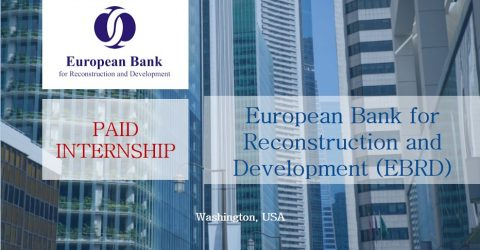 Internship at the European Bank for Reconstruction and Development in USA