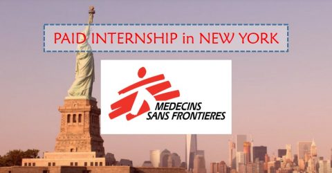 2017 Summer Internship at Doctors Without Borders/Médecins Sans Frontières (MSF) in New York, USA