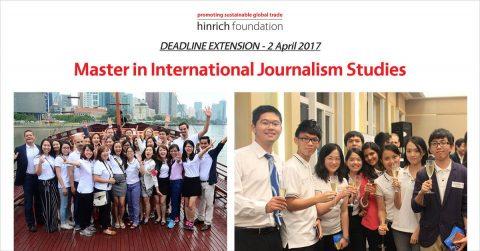 Master in International Journalism Studies Full Scholarship 2017 in Hong Kong