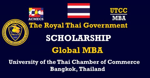 The Royal Thai Government's Scholarship 2017