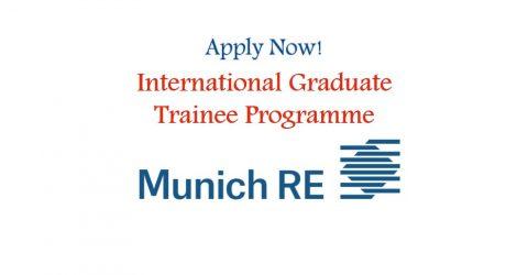 International Graduate Trainee Programme at Munich RE