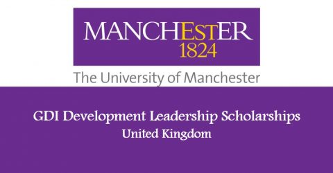 GDI Development Leadership Scholarships at Manchester University 2017