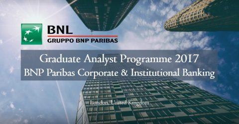 Graduate Analyst Programme 2017 at BNP Paribas Corporate & Institutional Banking (CIB)
