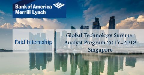 Global Technology Summer Analyst Program 2017-2018 in Singapore