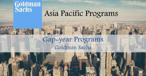GAP-YEAR PROGRAMS at Goldman Sachs