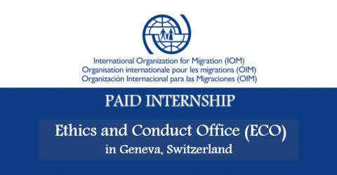 Ethics and Conduct Office (ECO) Intern at  IOM in Geneva, Switzerland