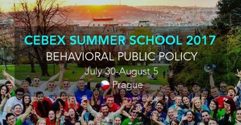 CEBEX Summer School on Behavioral Sciences 2017 in Czech Republic