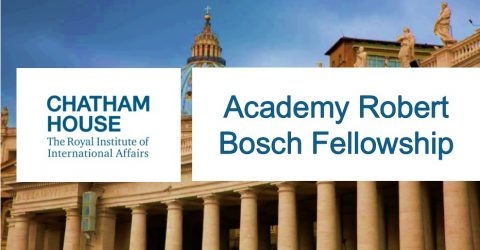 Academy Robert Bosch Fellowship at Chatham House, UK