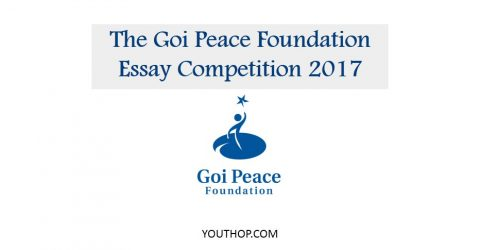 The Goi Peace Foundation Essay Competition 2017