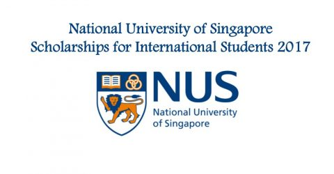 National University of Singapore Scholarships for International Students 2017