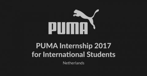 PUMA Internship 2017 for International Students in Netherlands