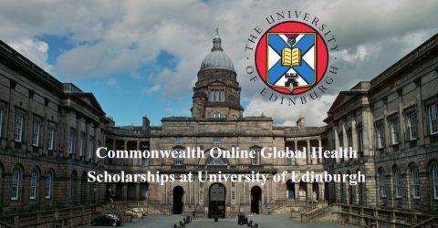 Commonwealth Online Global Health Scholarships at University of Edinburgh