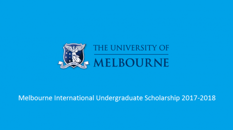 Melbourne International Undergraduate Scholarship 2017-2018