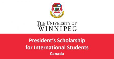 University of Winnipeg President's Scholarship for International Students