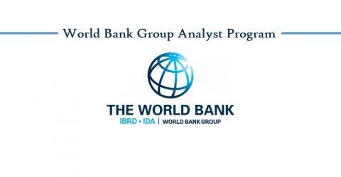 World Bank Group Analyst Program 2017