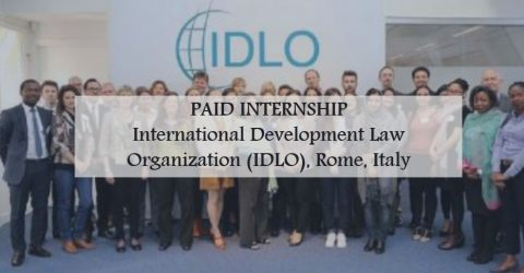 Internship (Programs Department) at International Development Law Organization (IDLO)