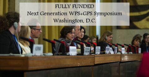Fully Funded- Next Generation WPS+GPS Symposium in Washington, D.C.