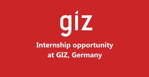 Internship opportunity at GIZ GmbH, Germany