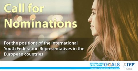 Applications open for the position of the IYF Representatives in the EU countries