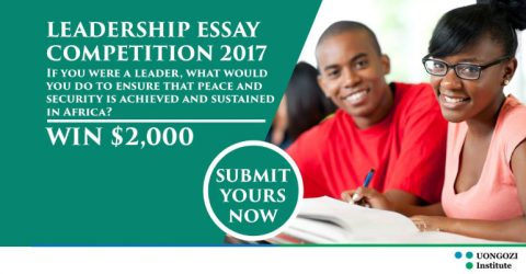 Leadership Essay Competition for African Citizens at UONGOZI Institute in South Africa
