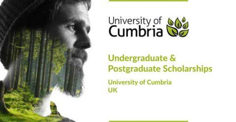 Undergraduate and Postgraduate Scholarships at University of Cumbria in UK