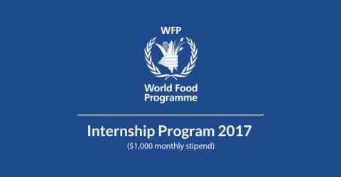 United Nations World Food Programme (WFP) Internship Program 2017 in Rome, Italy