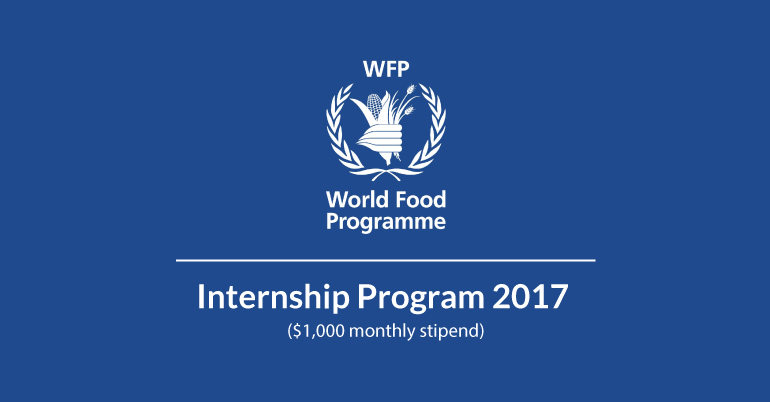 United Nations World Food Programme Wfp Internship Program 2017 In Rome Italy Youth Opportunities