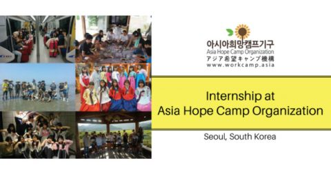 Project Management Intern at Asia Hope Camp Organization in Seoul, South Korea