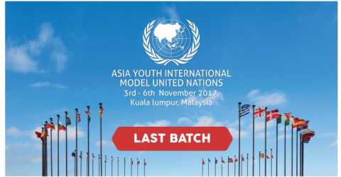 Asia Youth International Model United Nations 2017 in Malaysia