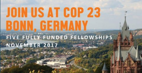 Fully Funded Fellowship to COP 23 in Bonn, Germany