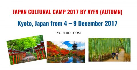 AYFN Japan Cultural Camp 2017 (Autumn) in Kyoto, Japan