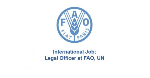 [Job] Legal Officer- Food and Agriculture Organization of the United Nations