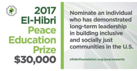 Nominations Open for El-Hibri Peace Education Prize