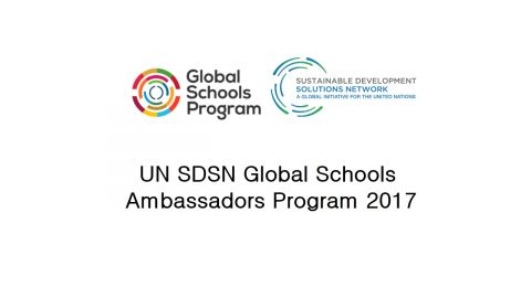 UN SDSN Global Schools Ambassadors Program 2017