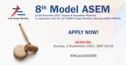 8th Model Asia-Europe Meeting (ASEM) 2017 in Myanmar